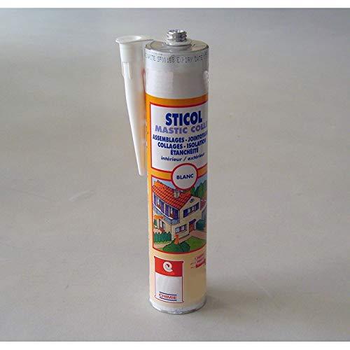 Mastic collage de tuiles et gouttières colle polyuréthane PU Label SNJF carrelage béton bois métal MASTIC STICOL