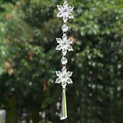 Alinory Hängendes Tropfenpendel, Kristallperlenkette, 10 Stück Glas hängender Strang Prächtig für Hochzeitsfeier-Geburtstagsfeier(Faceted Pendant)