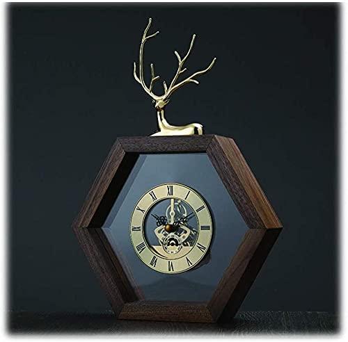 Scultura,Reloj De Sobremesa De Estilo Simple De 11 8 Pulgadas / Reloj De Mesa para El Hogar De Moda / Reloj De Mesa Poligonal / Reloj De Mesa para Sala De Estar Y Pasillo