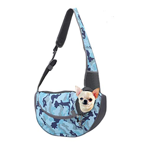 EVBEA Dog Carrier Sling Front Pack Cat Puppy Carrier Purse Breathable Mesh Travel for Small or Medium Pet Dogs Cats Sling Bag