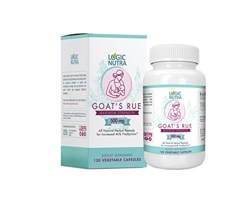 Goats Rue Organic Herb Lactation Aid Support Supplement for Breastfeeding Mothers, Certified Organic 120 Vegetarian Capsules - 500 mg per Capsule - Made in The USA