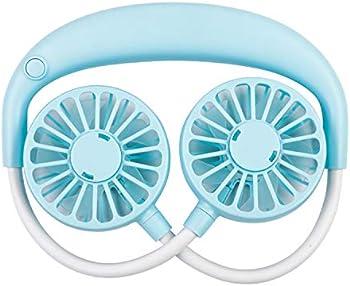Decdeal Neckband 360Adjustable Portable Fan
