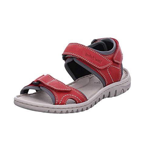 Josef Seibel Damen Sandalen Lucia 15, Frauen Trekking Sandalen, Outdoor-Sandale Sport-Sandale sommerschuh weibliche Lady,rot-Kombi,42 EU / 8 UK