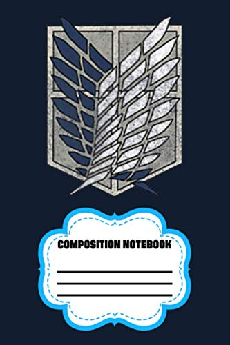 Attack On Titan Season 3 Scout Regiment Distress FXIBP Notebook: 120 Wide Lined Pages - 6' x 9' - College Ruled Journal Book, Planner, Diary for Women, Men, Teens, and Children