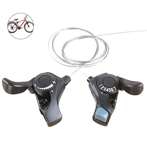 1 Par 21 Velocidad Bicicleta de Montaña Dividido Regulador Trigger Palanca de Cambios - Pulgar Mando de Cambios Palancas con Interior Cables 3x7 Velocidad por Shimano Tourney SL-TX30 MTB