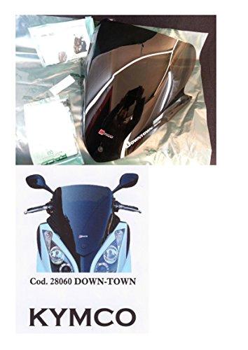 Carenado anterior gris ahumado oscuro para Kymco Down-Town, cód.28060