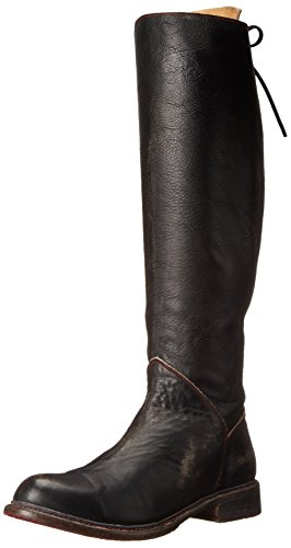 BED STU Women's Manchester Motorcycle Boot, Black Handwash, 10 M US