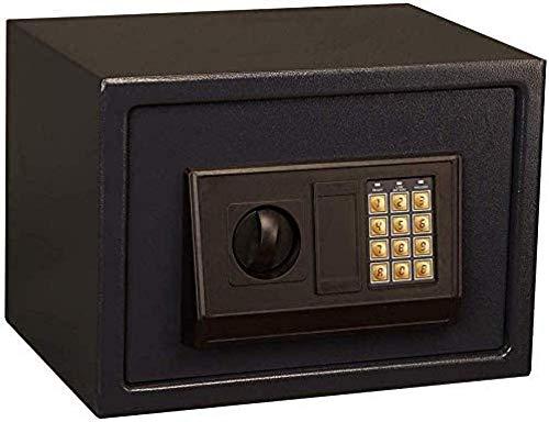 REWD Tresore mit mechanischem Schloss für die Sicherheit zu Hause Box mit 2 Verriegelungsbolzen für den sicheren Alarm für das Home Office - Schwarz (Größe: 25 * 35 * 25)