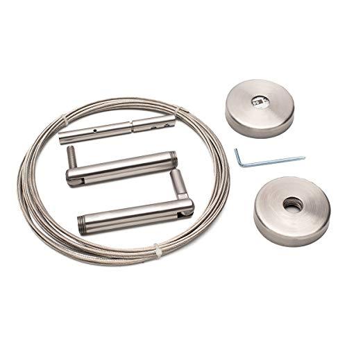2 XIkea Dignitet Stahlseil für Gardinen, 500cm, mit Fixierungen