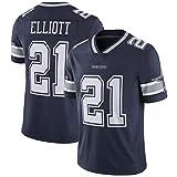 NBJBK Herren NFL Trikot, Dallas Cowboys # 21 Fußball Sportswear Kurzarm Sport Top T-Shirt,b-21,L