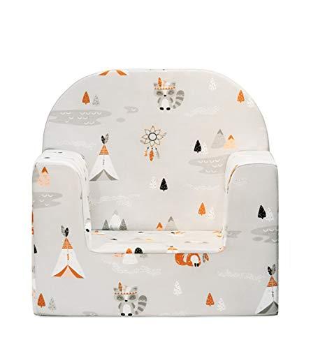 miwido Mini Sessel für Kinder, Kindersessel - Dekoration - sehr leicht (Grau - Tipi)