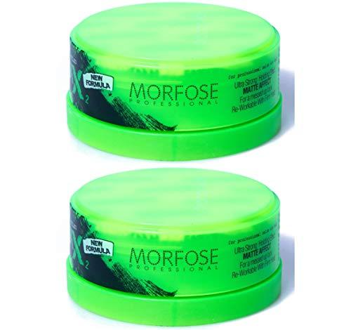 Morfose New Generation Matte Wax Styling 2 x 150ml =300ml, Nr.2 Ultra Strong Strong Hold Matt Haar Wax Haarwachs Mat Hair Styling Wax Messed Up Look