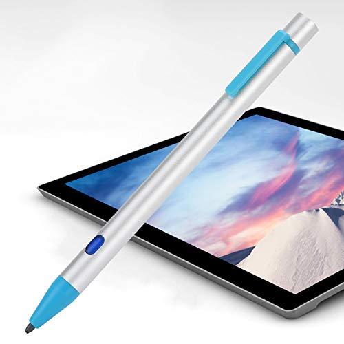 Lazmin112 Lápiz óptico Activo, lápiz óptico Digital Compacto con Pantalla táctil capacitiva, con función antivaho, Recargable por USB, Compatible con tabletas iOS Pro / AIR2 / Mini / 2018