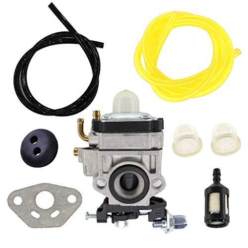 HURI Vergaser mit Dichtung Benzinfilter Schlauch für Fuxtec FX-LB 126, FX-LBS 12, FX-LB 133T Laubbläser Laubsauger