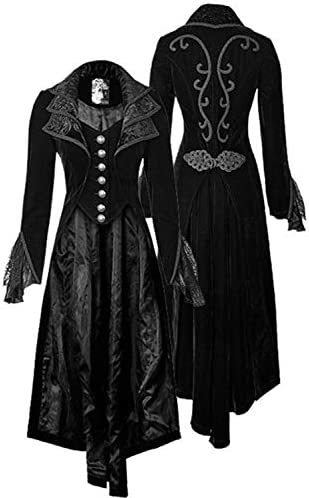 Renaissance Steampunk Tailcoat Halloween Costumes for Women Medieval Victorian Pirate Vampire product image