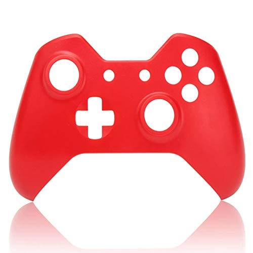 C-FUNN Suave Toque Frontal Carcasa Shell Reemplazo Placa Frontal para Xbox Un Controlador - Rojo