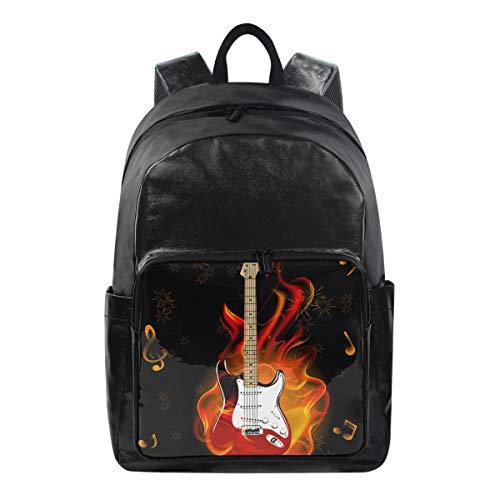 CPYang Rucksack mit Musiknote, Gitarre, Feuerwerk, Freizeitrucksack, Tagesrucksack, Schulranzen, Reiserucksack für Damen und Herren