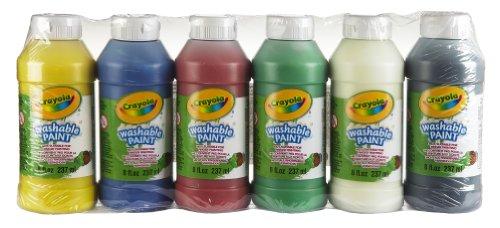 Crayola - 6 Bouteilles de peinture lavable - Loisir créatif - peintures et accessoires - à partir de 3 ans - Jeu de dessin et coloriage