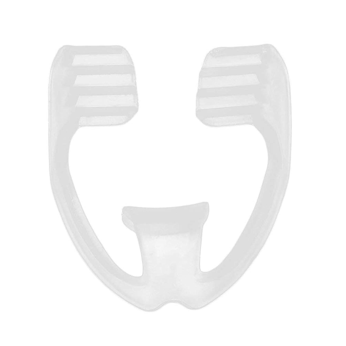 魅力的であることへのアピール犯罪ガイダンスユニバーサルナイトスリープマウスガードストップ歯ひび割れ防止いびきボディヘルスケア睡眠補助ガード - 透明