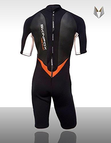 SKINFOX Leader II Neoprenanzug Shorty Herren Weiss-orange Gr.XL(52) Surfanzug
