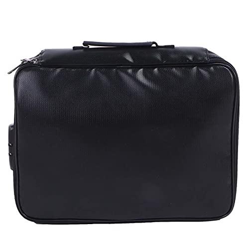 Soporte para archivos de negocios, bolso ancho para archivos de hombro con diseño de asa para hombre para viajes