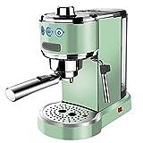 JLKDF Cafetera Todo en uno, Espresso, Filtro y cápsulas Máquina de café con espumador de Leche, cafetera Retro Espresso semiautomática doméstica pequeña Espuma de Leche de Vapor, 1 l