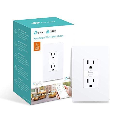 Kasa Smart KP200 Plug by TP-Link, In-Wall Smart Home Wi-Fi Outlet Works with Alexa, Echo, Google Home & IFTTT, No Hub Required, Remote Control, UL Certified
