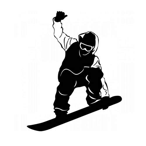Tianpengyuanshuai vinyl stickers hoofddecoratie Art Deco ornamenten wandafbeeldingen wintersport snowboard auto glassticker