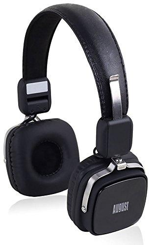 August EP634 – Cuffie Stereo Senza Fili Bluetooth – Cuffie On Ear senza fili con Audio In 3.5mm, Batteria Ricaricabile e Microfono Incorporato – Compatibile con Telefoni Cellulari, iPhone, iPad, Laptops, Tablets, Smartphones