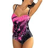 Frauen Sommer Badeanzug Mode Sling Blume Drucken Badeanzug Sexy schön Einteiliger Badeanzug YunYoud...