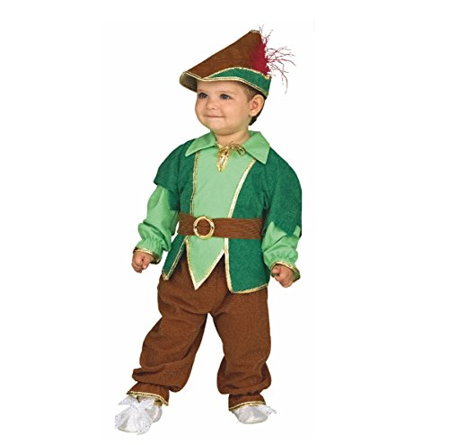 Bebé del traje de Peter Pan, el tamaño 92, Kinderfasching muchacho juego del sombrero