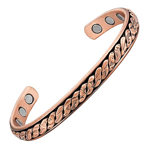Magnetisches Armband in Kupfer mit Magneten - Verbena Modell