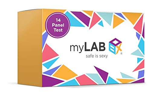 myLAB Box STD at Home 14 Panel Test for Men Chlamydia & Gonorrhea (3 Sites), Trichomoniasis, HIV, Hepatitis C, Herpes, Mycoplasma Genitalium, Syphilis CLIA Lab Certified (Not Available in NY)
