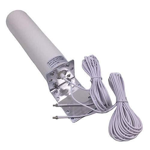 #N/V Antena de barril 3G 4G Antena al aire libre de doble interfaz SMA TS9 CRC9 Router Tarjeta de red Antena externa