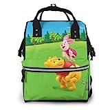 Winnie The Pooh and Pig - Mochila de viaje multifunción impermeable para maternidad