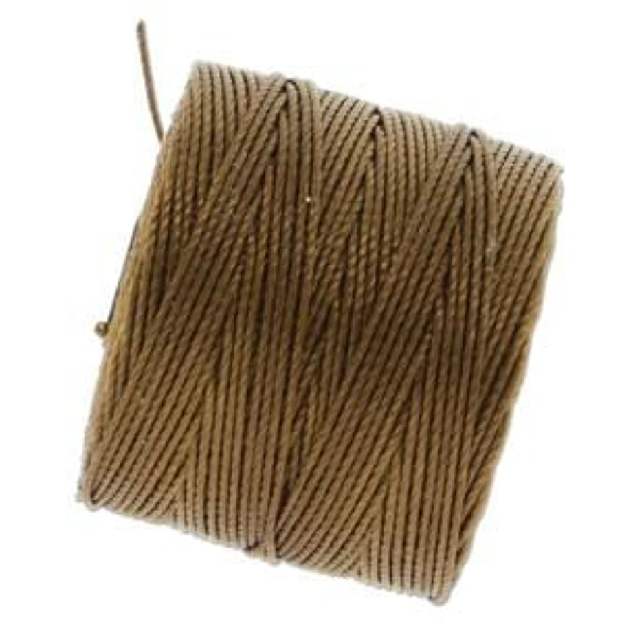 Bead Cord Nylon Superlon #18 Twisted 77 Yard Spool Bobbin MILK CHOCOLATE