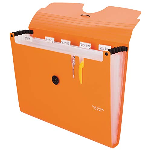 Five Star 6-Pocket Expanding File Organizer, Plastic Expandable Letter Size File Folders with Pockets, Home Office Supplies, Portable Paper Organizer for Receipts, Bills, Documents, Orange (72923) Photo #3