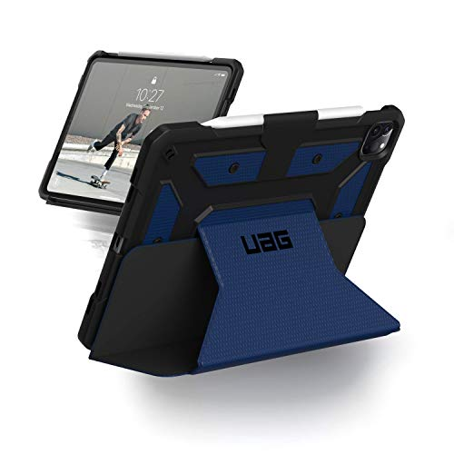 Urban armor gear metropolis military standard sleeve for apple ipad 12. 9'' (2020) - apple pencil 2 compatible, despertar/dormir, resistente a los choques, soporte para el piso - azul.