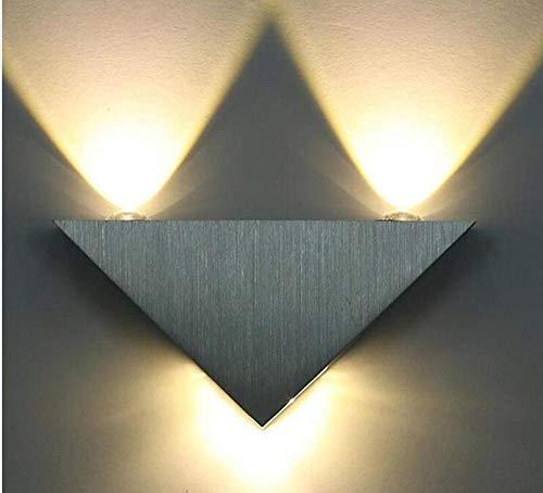 LED Lámpara de Pared Apliques Pared Interior Moderno Lámpara de pared LED moderna 3W cuerpo de aluminio triángulo lámpara de pared dormitorio iluminación del hogar lámpara de baño lámpara de pared