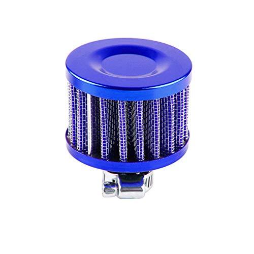 QREAEDZ 12 mm 25 mm Filtro de Aire de Coche para Motocicleta Inmagración de Aire frío de Alto Flujo Cubierta de ventilación Mini filtros de respiración (Color : Blue)