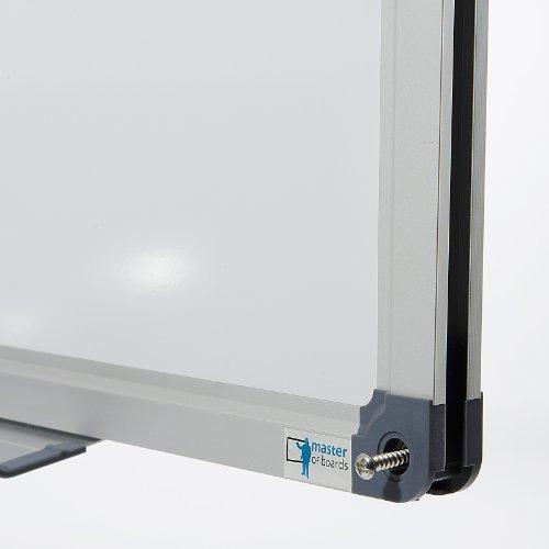 MOB Profi-Whiteboard Magnettafel – 120x90cm – emailliert, Alurahmen, magnetisch – für Büro, Gewerbe und Privat - 3
