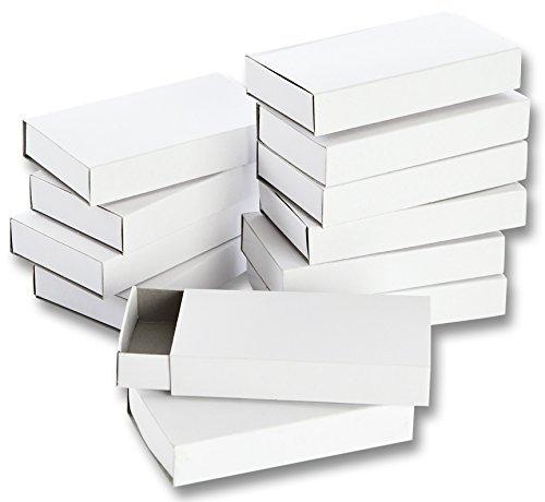Folia 2407 - Streichholzschachteln, blanko, groß, weiß (24 Schachteln)
