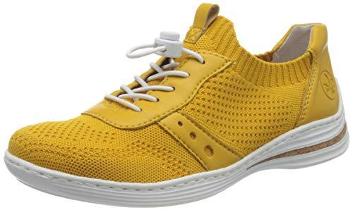 Rieker Damen Frühjahr/Sommer M3575 Sneaker, Gelb (Gelb/Gelb 68), 38 EU