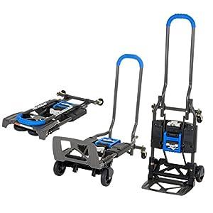 COSCO Shifter, Carretilla de Mano 135kg Plegable de Multiples Posiciones para Trabajos Pesados, Azul