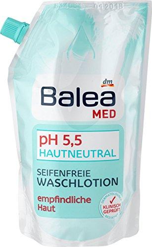 Balea Med pH Hautneutral Seifenfreie Waschlotion empfindliche Haut, 500 ml