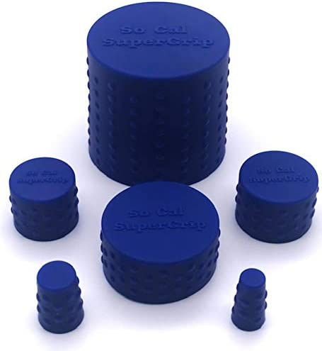 So Cal SuperGrip Universal 6 Piece Silicone Caps for Cleaning Storage and Odor Proofing Glass product image