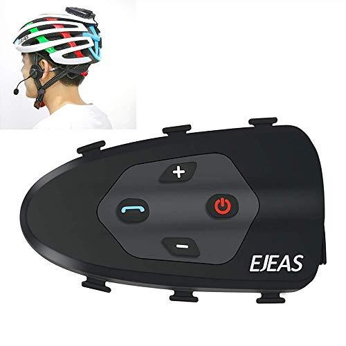SPRIS Casco De Motocicleta Bluetooth Walkie-Talkie, 1200 M 2 Riders Manos Libres...