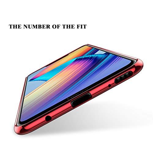 KuGi Honor Play Hülle, Kratzfeste Hülle Honor Play Schutzhülle Soft TPU Case Ultradünn Cover [Slim-Fit] [Anti-Scratch] [Shock Absorption] für Honor Play Smartphone. Rot - 6