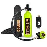 ZWPY Tauchausrüstung Tauch-Sauerstoffflasche,1L Tragbare Sauerstoffflasche Tauchflasche Mit...