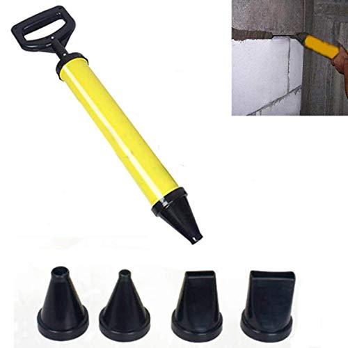 Uteruik - Herramienta aplicadora para Pistola de enlechado y mortero + 4 boquillas para Lima de Cemento